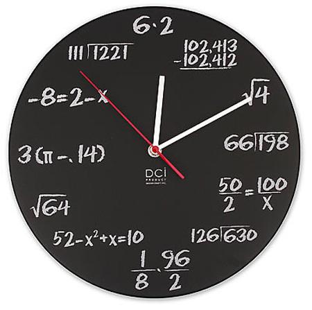 reloj matemático, reloj original