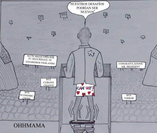viñeta  cartoon obama