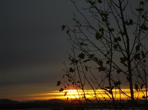 Anochecer nuboso desde mi ventana