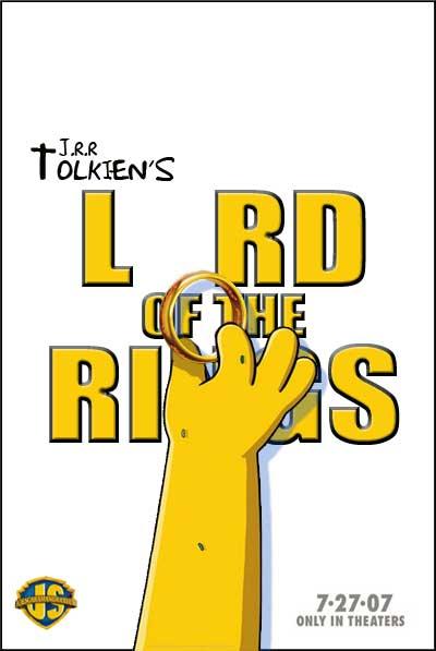 El señor de los anillos + Los Simpson