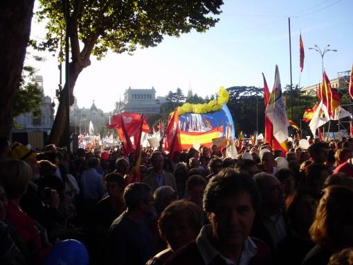 10 Manifestación en calle Alcalá