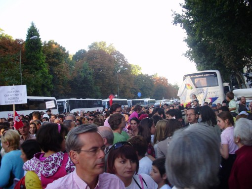 14 Manifestación calle Alfonso X el Sabio