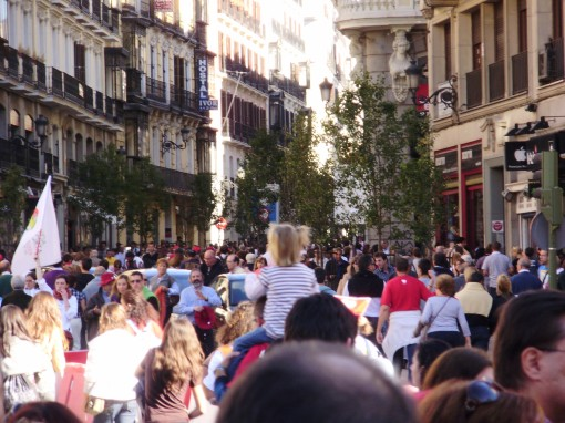 2 Manifestación desde Ópera