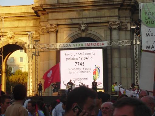 21 Manifestación Puerta de Alcalá - Concierto
