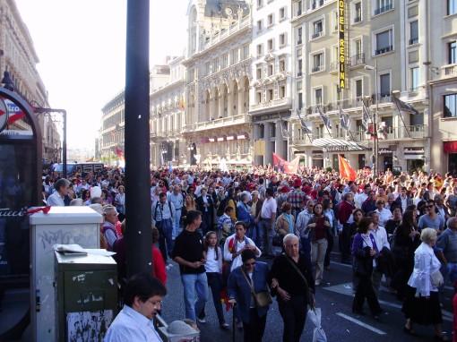 4 Manifestación calle Alcalá