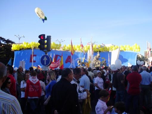 5 Manifestación en Cibeles