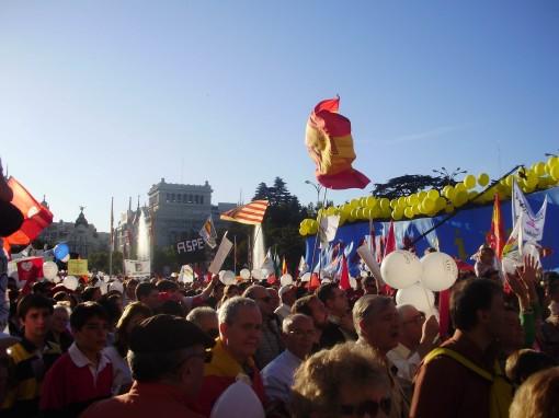 8 Manifestación en Cibeles