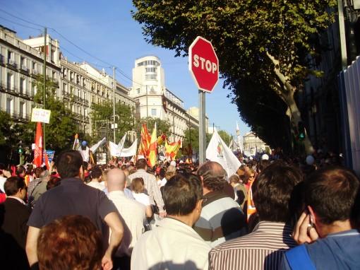 9 Manifestación en calle Alcalá