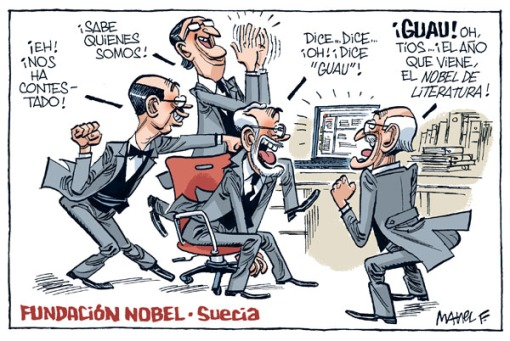cartoon viñeta obama nobel