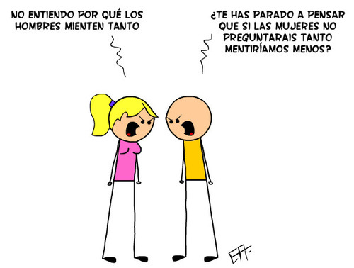 mentiras hombres mujeres
